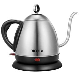 AICOK 1.0L Electric Kettle Gooseneck Kettle Stainless Steel