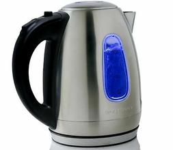 Ovente 1.7 Liter BPA Free Stainless Steel Cordless Electric