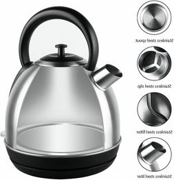 1 7 liter brushed stainless steel retro
