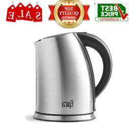 1.75 Quart Cordless Electric Stainless Steel Kettle Stays On