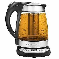 1.7L Electric Glass Digital Kettle with Free Tea Infuser Tem