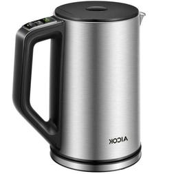 1.7L Electric Kettle Coffee Hot Water Maker Cordless Tea Tem