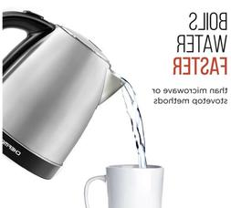 CHEFMAN - 1.7L Electric Kettle - Stainless Steel