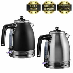 Ovente 1.7L Electric Tea Kettle Auto Shut-Off Anti-Fingerpri