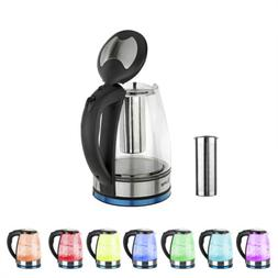 1.8L Electric Glass Kettle 1500W Fast Boiling Stainless Stee