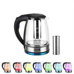 1.8L Electric Glass Tea Kettle Temperature Control w/ Filter
