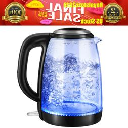 1.8L Electric Kettle Fast Boiling Water Boiler Blue LED Illu