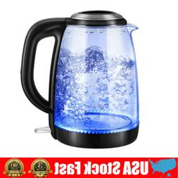 1.8L Electric Kettle Glass Portable Water Boiler LED Illumin