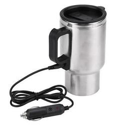 12V 450ml Electric In-car Stainless Steel Travel Heating Cup