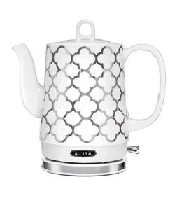 BELLA 14522 1.2 Liter Electric Ceramic Tea Kettle w/ Detacha
