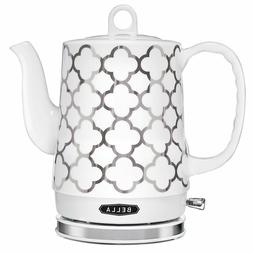 BELLA 14522 Cordless Electric Ceramic Kettle, 1.2L, White an