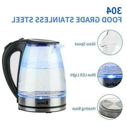 1500W Electric Glass Water Kettle Coffee Hot Water Maker Tea