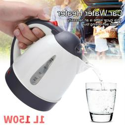 1L 150W Car Electric Kettle Hot Water Stainless Steel Cordle