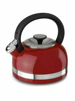 KitchenAid 2-Quart Steel Band Tea Kettle Whistle /C Handle k