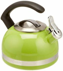 KitchenAid 2-Qt Steel Handle Band Tea Kettle Whistle KTEN20C