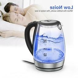 2L Electric Large Glass Kettle Hot Heat Water Light Safety A