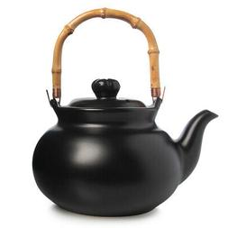 Joyce Chen 2qt Stovetop Ceramic Tea Kettle Bamboo Handle For