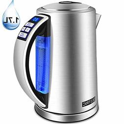 3-In-1 Electric Water Kettle Temperature Control, 1.7Liter E