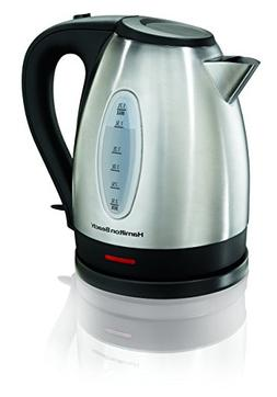 Hamilton Beach 40880 Electric Kettle, 1.7 L, Stainless Steel
