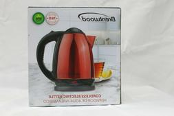 Brentwood 50oz Cordless Red Stainless Steel Electric Kettle