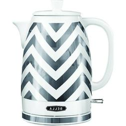 Bella - 1.8l Electric Ceramic Kettle - Silver Foil/white