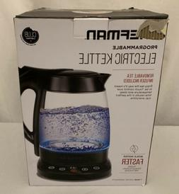 Chefman Electric Glass Digital Tea Kettle with Free Infuser,