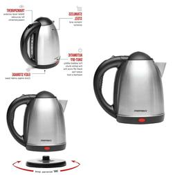 Electric Tea Kettle 1.7 Liter Cordless Hot Boil Water Coffee