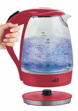 Elite Platinum - 7.2-cup Electric Kettle - Red