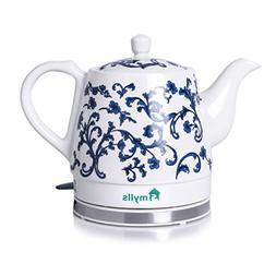 SMYLLS Electric Ceramic Kettle Non-Plastic Kettle, Blue Patt