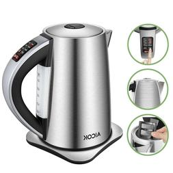 AICOK Electric Kettle /Stainless Steel Kettle with 6 Precise