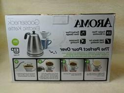 Aroma Electric Kettle Gooseneck 1000 watts 4 cup New in Box