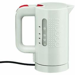 Bistro Electric Water Kettle, 17 Ounce, .5 Liter, White Kitc