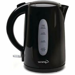 Black Electric Kettles 1.7 Liter Water Kitchen &amp Dining