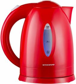Ovente Electric Water Kettle 1.7 Liter LED Indicator 1100W B