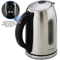 FLASH SALE Ovente 1.7 Liter BPA Free Stainless Steel Cordles