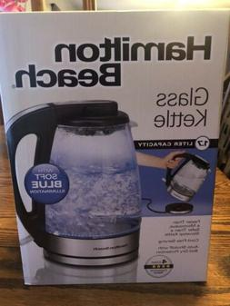 Brand New In Box Hamilton Beach 1.7 Liter Electric Glass Ket