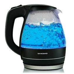 Brand New Ovente KG83 Series 1.5L Glass Electric Kettle, Bla