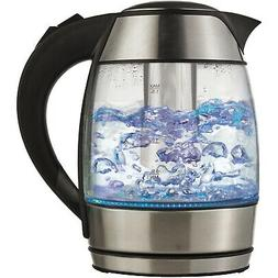 Brentwood KT-1960BK 1.8L Cordless Glass Electric Kettle with