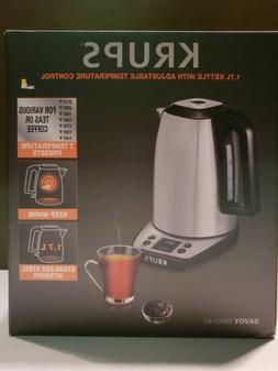 KRUPS BW314 1.7 Liter Adjustable Temperature with LCD Displa