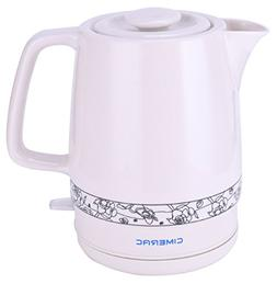 CIMERAC Ceramic Electric Kettle with Boil Dry Protection,1.7