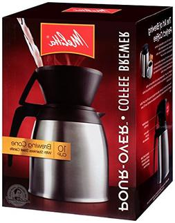 Melitta Coffee Maker, 10 Cup Pour- Over Brewer with Stainles