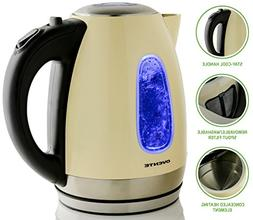 1.79- qt. Cord-Free Brushed Electric Kettle - Color: Beige