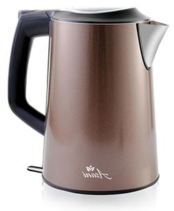 Double Wall Safe Touch Electric Kettle   Stainless Steel wit