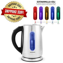Ovente Electric Kettle 1.7 Liter Touch Screen Control 1100 W