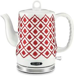 BELLA 1.2L Electric Ceramic Tea Kettle with detachable base