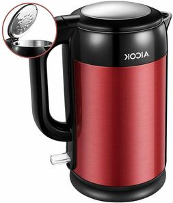 AICOK Electric Double Wall Stainless Steel Kettle 1.7L 1500W