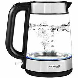 Electric Glass And Steel Kettle - 1.7 Liter Kitchen &amp Din