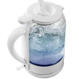 Ovente Electric Glass Hot Water Kettle 1.5 Liter Easy Pronto