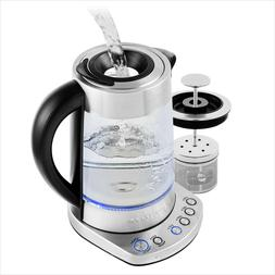 Ovente Electric Glass Kettle 1.7 Liter Fast Heating Function