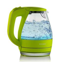 Ovente Electric Glass Kettle Water 1.5 Liter BPA-Free Auto S